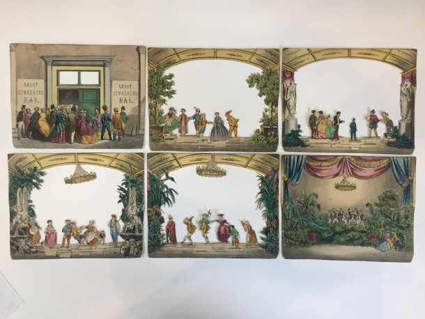 Fig.1. View of each individual cut-out panel from the Groot Gemaskerd Bal, The Hague, ca.1860