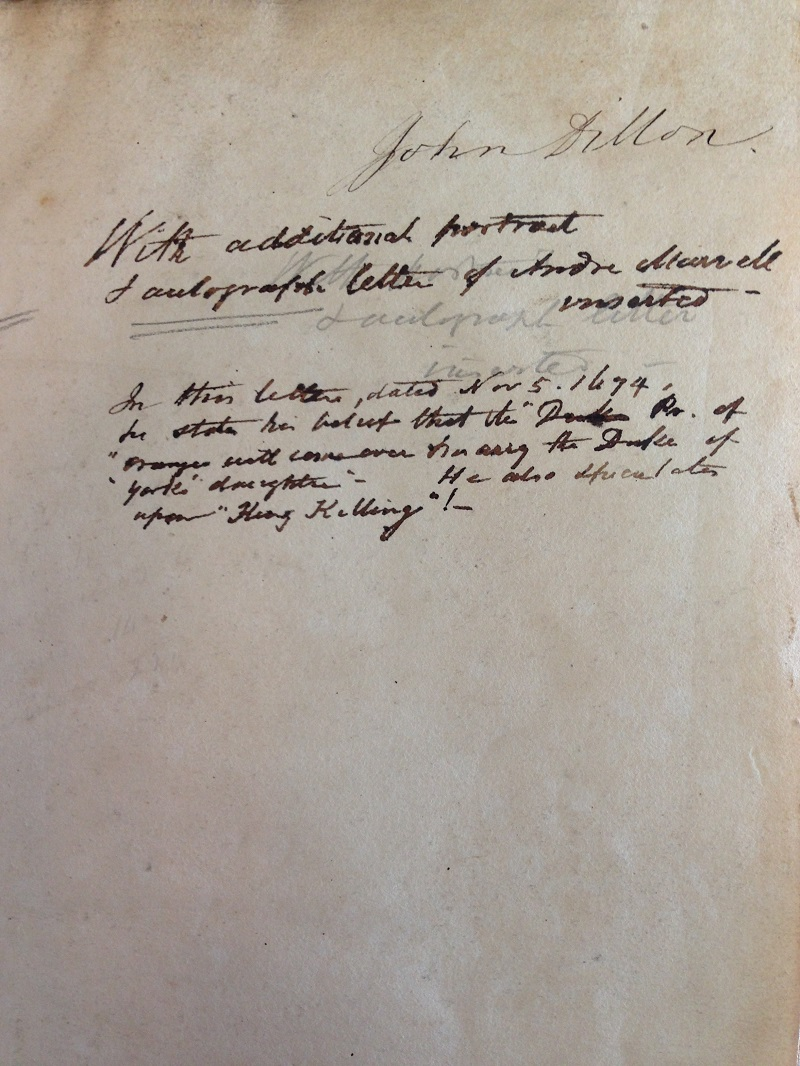 Page showing Dillon's signature