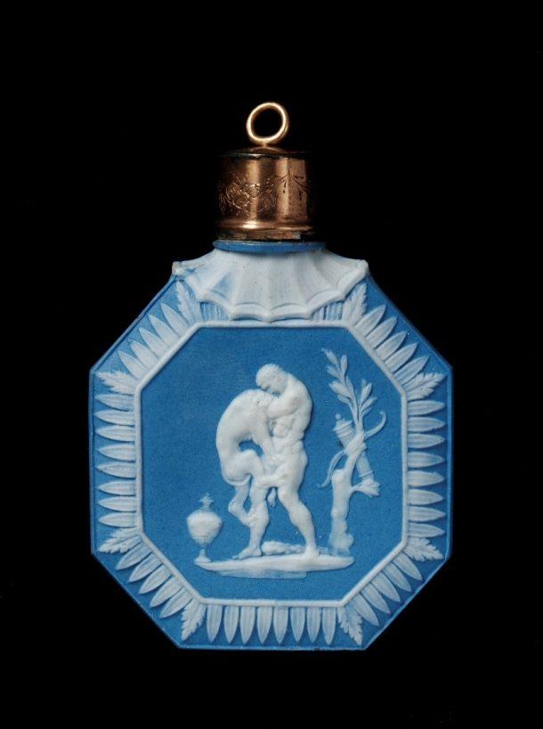 Jasperware scent bottle