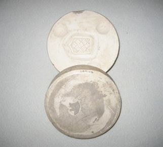 Lucie Rie, Plaster button mould, ca.1940-47, C.116:1 & 2 – 2009.