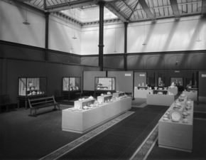 The V&A Exhibition : English Pottery Old & New; with The Council of Art & Industry, April - August, 1935; North Court; ©Victoria & Albert Museum, London.