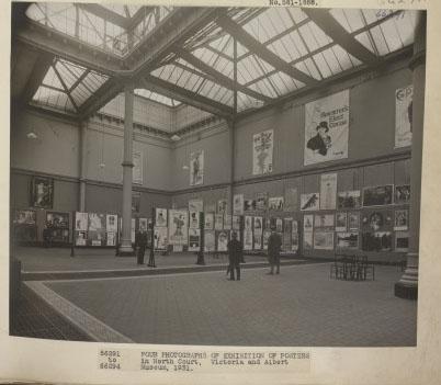 The Posters Exhibition, North Court, July 1931. ©Victoria & Albert Museum, London.