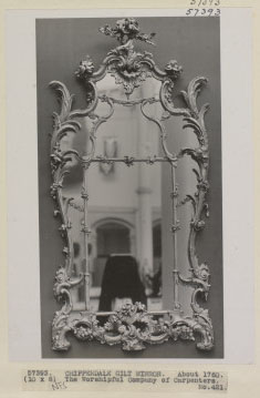 Mirror - Gilt frame by Chippendale, English; c.1760. Owned by The Worshipful Company of Carpenters, 1926. Negative 57393.