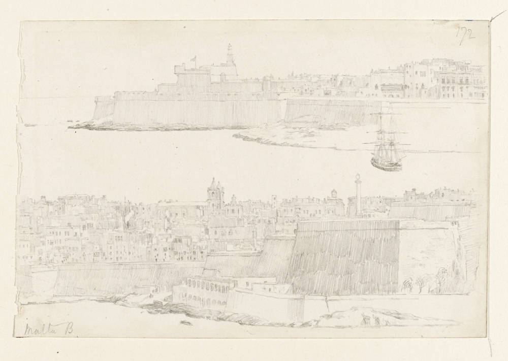 Two views of Valetta, Malta