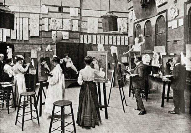 Life drawing Class 1890 (NAS archives)