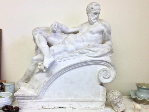 """Michelangelo, """"Dusk"""" (Reduction cast: Brucciani) NAS Plaster."""
