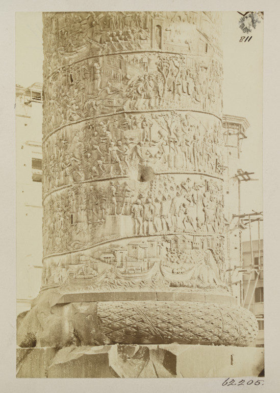 Photograph showing detail of Trajan's Column, Rome