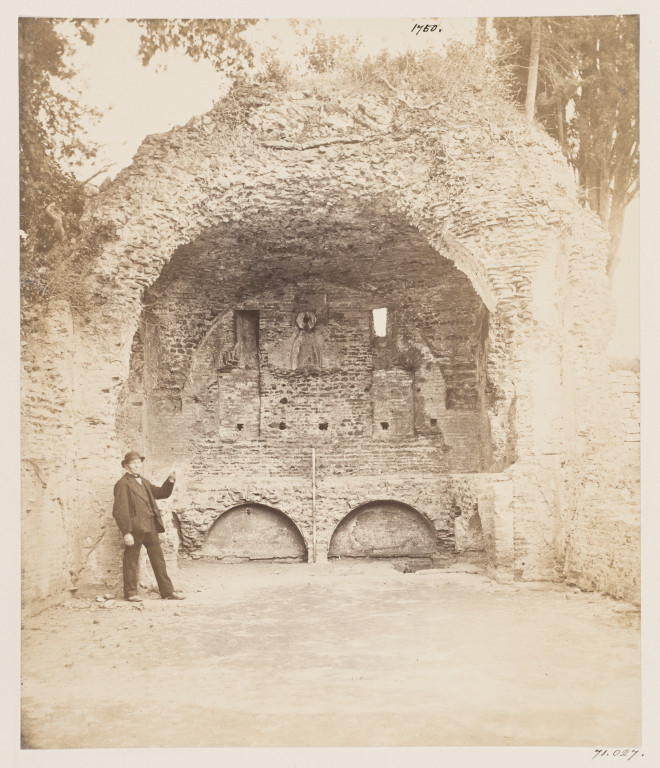 Photograph of a chapel in the Catacomb of S. Calixtus, Rome