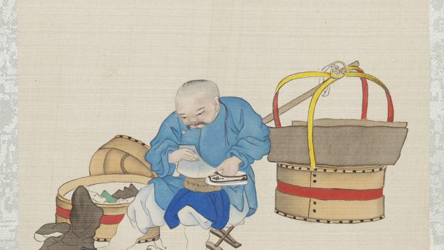 Cobbler – watercolour on paper (7790:18) © The Victoria and Albert Museum