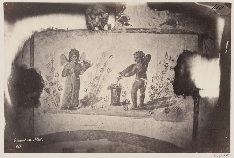 Photograph by Charles Smeaton of a painting of Autumn in the Catacomb of S. Domitilla, Rome