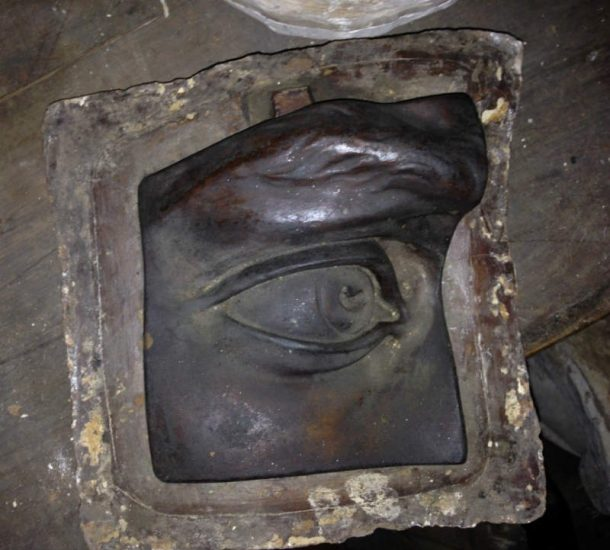 Mould of David's eye. NAS Cast Collection.