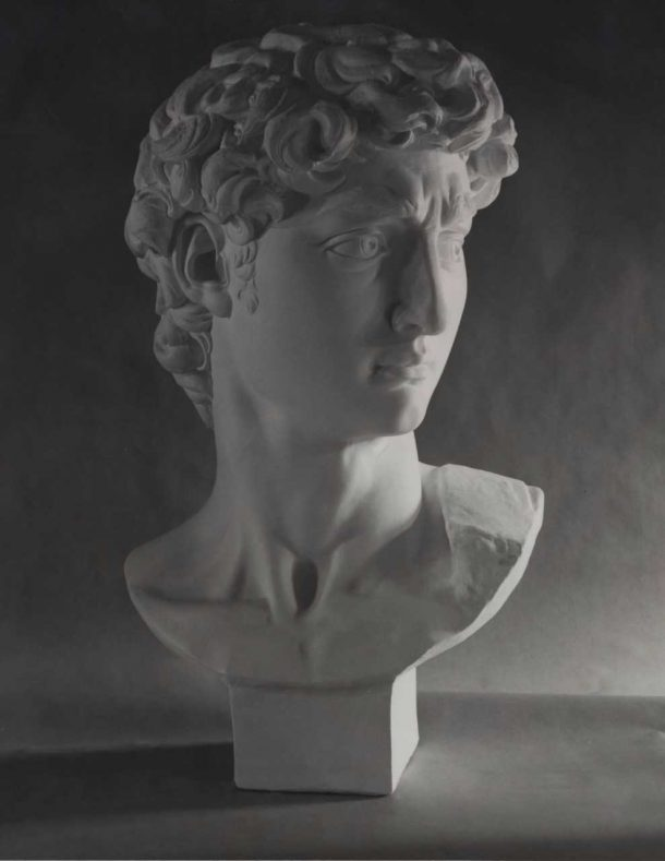 Image of the Giust Gallery's head of David. Image, courtesy of the Giust Gallery.