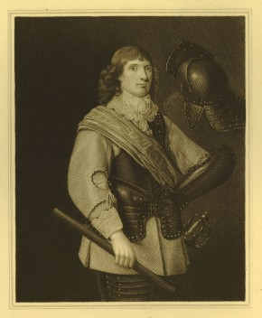 Portrait of Nathaniel Fiennes wearing a buff, greaves and breast plate, after Mierevelt 1640s, 1923,0514.95. British Museum