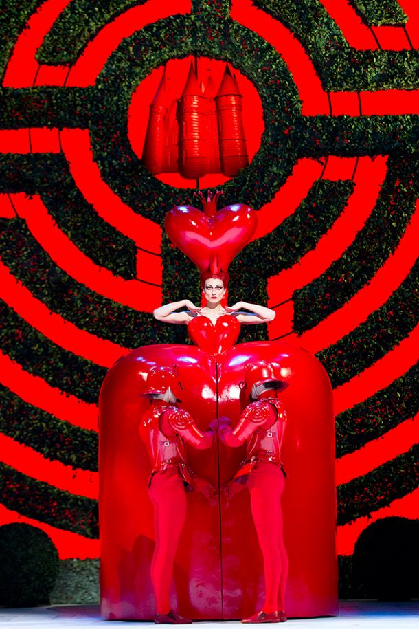 Royal Opera House image of the Red Queen from Alice in Wonderland