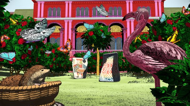 Screenshot from Curious Alice, The Queen's Croquet Garden