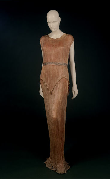 The dress shown above mounted on a mannequin.