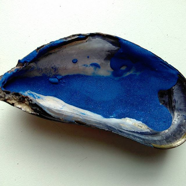 The final azurite pigment
