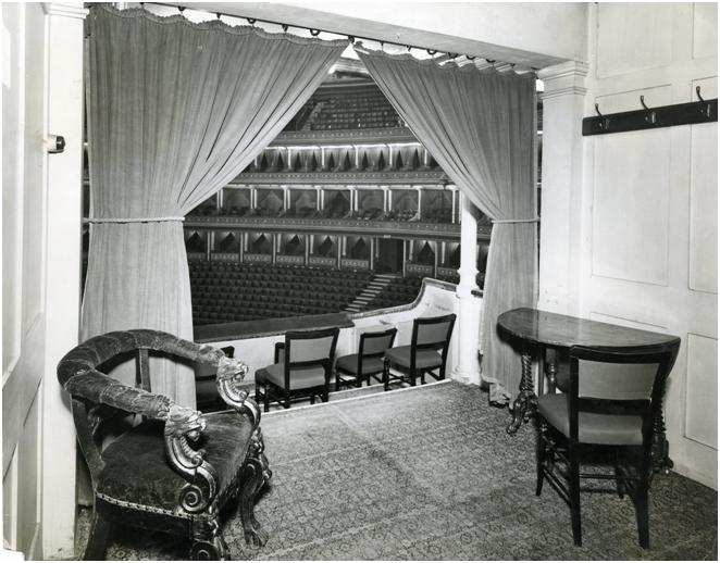 Royal Albert Hall, Grand Tier 13, 1954