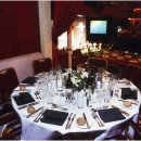 Formal dining in a Grand Tier box, 1980s