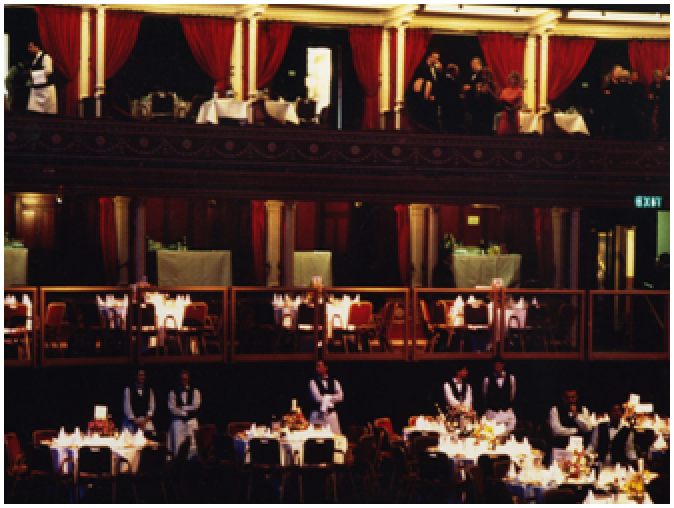 Formal dining in the 1980s
