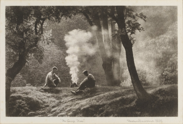 The Camp Fire, photograph, Herbert Bairstow, 1933, The Royal Photographic Society Collection at the V&A, acquired with the generous assistance of the Heritage Lottery Fund and Art Fund