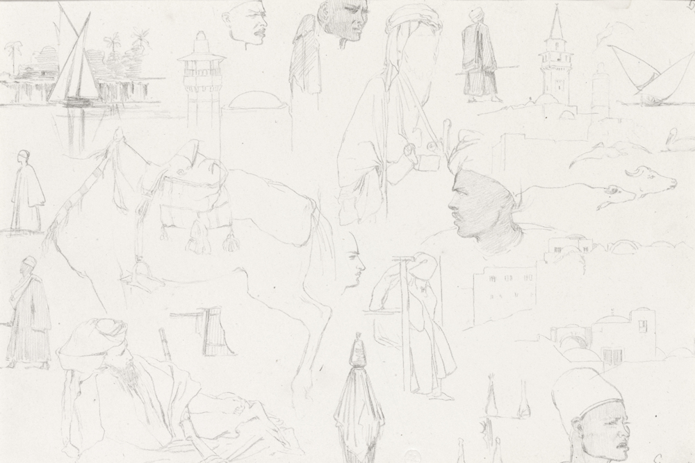 A page of studies made in Egypt