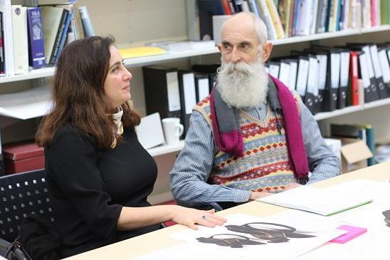 Professor Gascia Ouzounian (University of Oxford) and Nigel Bamforth (Senior Furniture Conservator, V&A)