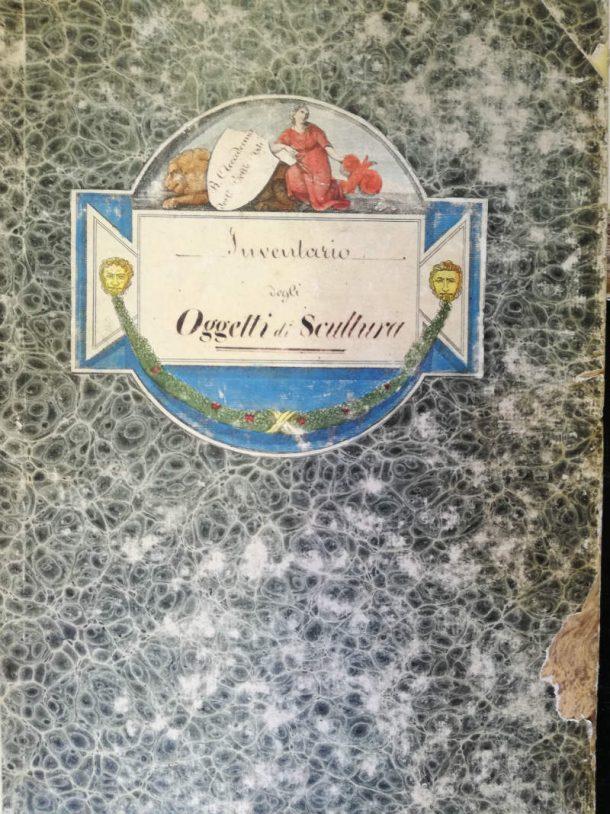 Figure 1a. ABAFi, Inventario degli Oggetti di Scultura from 1848 to 1870. Cover page. Photos by Eugenio Cecioni, 2017.
