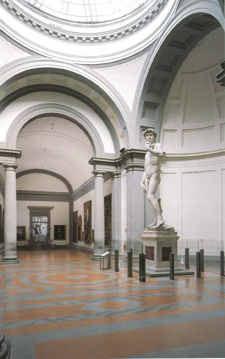 Figure 1. Michelangelo Buonarroti, David, 1501-1504, marble. Accademia Gallery, Florence, (published in L'Accademia, Michelangelo, l'Ottocento, cit., p.54).