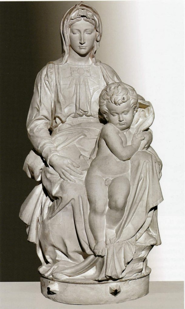 Figure 12. Plaster cast of the Madonna of Bruges by Michelangelo, (1503-1505. Bruges, Church of Our Lady) Accademia di Belle Arti of Florence.