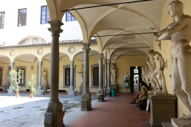 Figure 14. View of the Accademia di Belle Arti's Cloister. Photo by Domenico Viggiano, 2017.