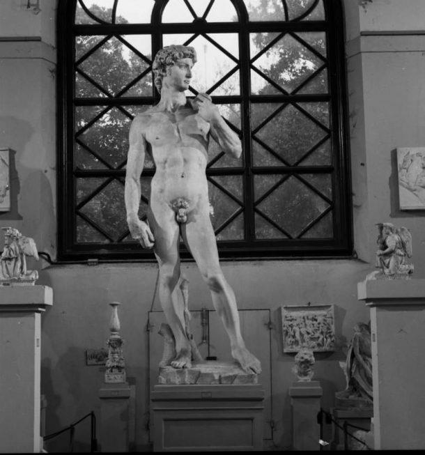 Plaster cast of Michelangelo's David by Clemente Papi (Inv. 1388), 1853, Gipsoteca of Liceo Artistico di Porta Romana, Florence (credit: Gabinetto Fotografico degli Uffizi).