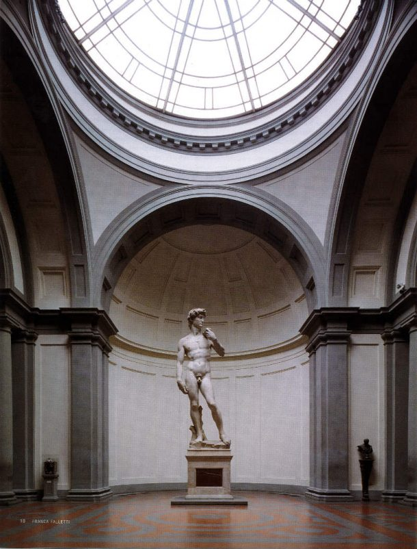 Fig 7. Michelangelo Buonarroti, David, 1504, Galleria dell'Accademia, Florence. Image, courtesy of Galleria dell'Accademia, Florence/Rabatti &Domingie Photography.