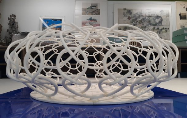 APAP Open Pavillion, Minsuk Cho, Hakwoon Park, Anyang, South Korea, 2010. Model fabricated by Kar Leung Wai, 2011.