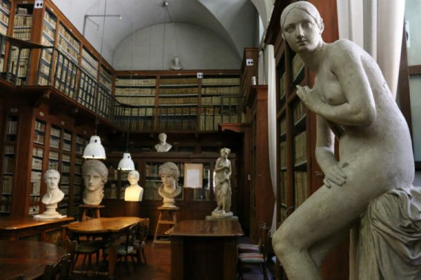 Figure 13. The Library of the Accademia di Belle Arti. Photo by Angela Cammarota.