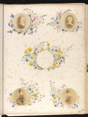 Page from Kate Gough's Album, 1870s. Museum no. 843D-1963 © Victoria and Albert Museum, London