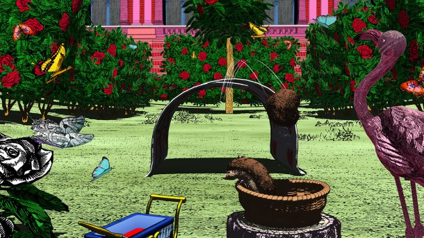 Screenshot from Curious Alice, the Queen's Croquet Graden