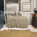 Recent returns L-R: Vivienne Westwood denim ensemble, 1740s embroidered mantua, and Zandra Rhodes dress
