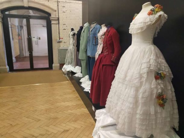 A line-up of dress ranging from 1775 to 2010, recently returned from Loan to the V&A Clothworkers' Centre