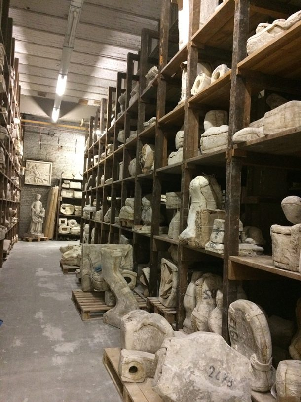 Moulds stored at the Plaster Cast Workshop of the Royal Museum of Art and History, Belgium