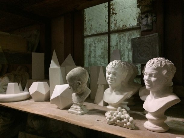 Casts stored at the Plaster Cast Workshop of the Royal Museum of Art and History, Belgium