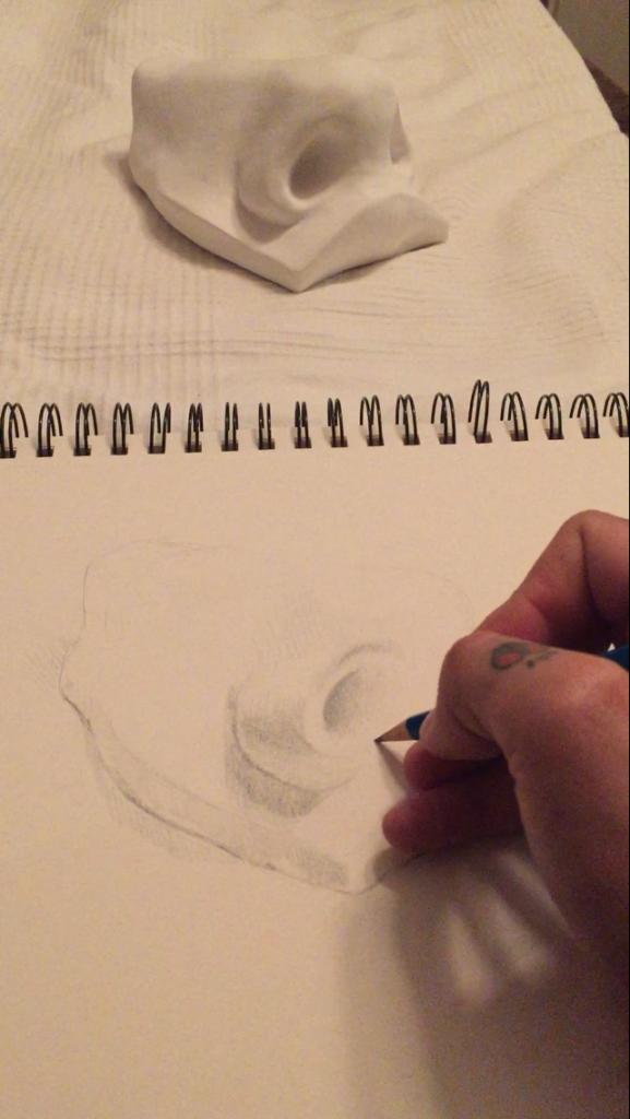 First attempts in pencil. Image, Kurt van der Basch.