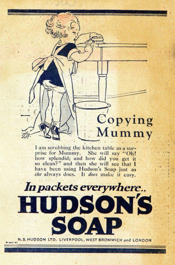 Hudson's Soap advert.