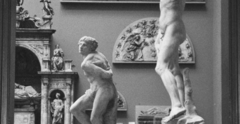 Plaster cast of Michelangelo's David (Mus. No. REPRO. 161-1857) at the V&A. Image, Giuseppe Rizzo.