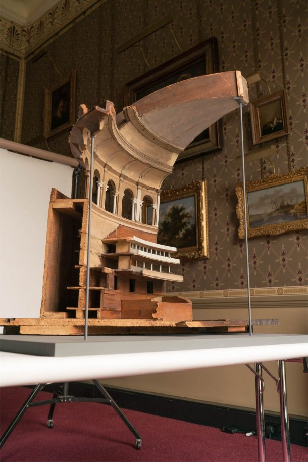 Partial model of the inside of the Royal Albert Hall