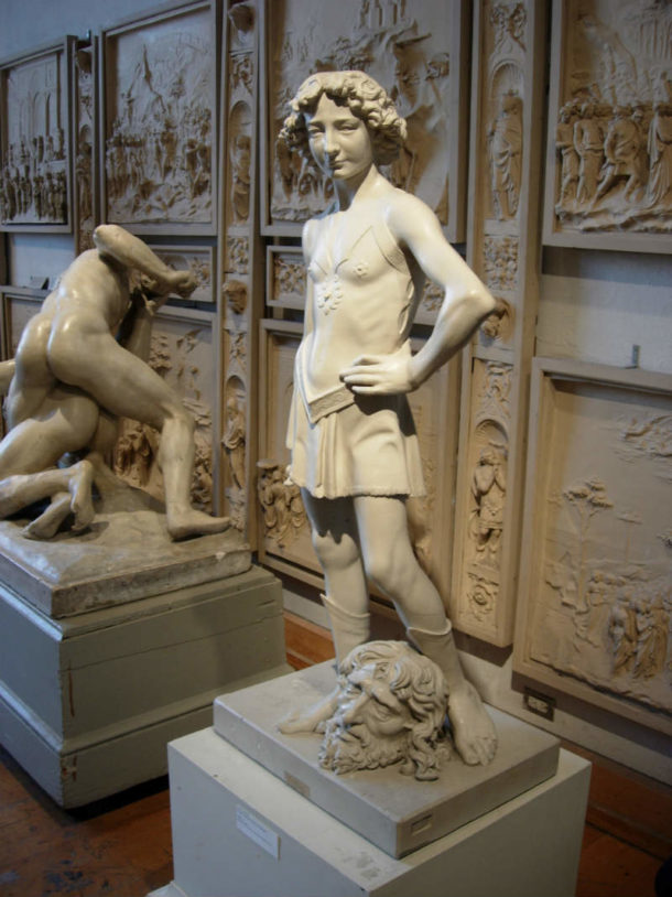 Verrocchio's David at PAFA. Image, courtesy of the Pennsylvania Academy of the Fine Arts.
