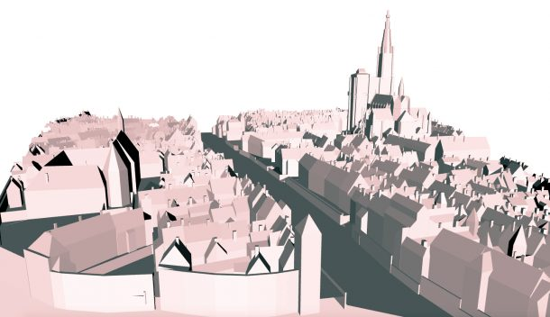 Fig 4: 3D reconstruction of scale model of Strasbourg.