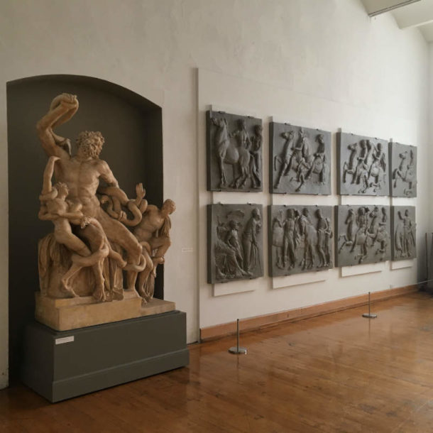 Laocoon and Parthenon reliefs at PAFA. Image, courtesy of the Pennsylvania Academy of the Fine Arts.