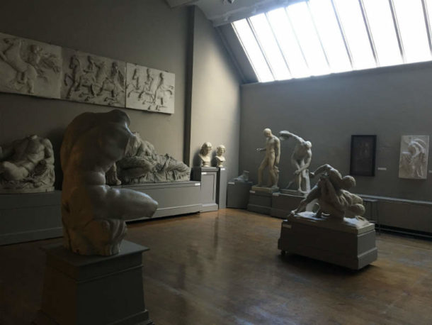 View of PAFA's Cast Hall. Image, courtesy of the Pennsylvania Academy of the Fine Arts