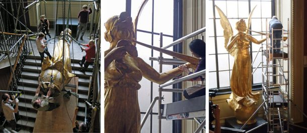 Figure 2. Installation of the angel at the V&A, 2010